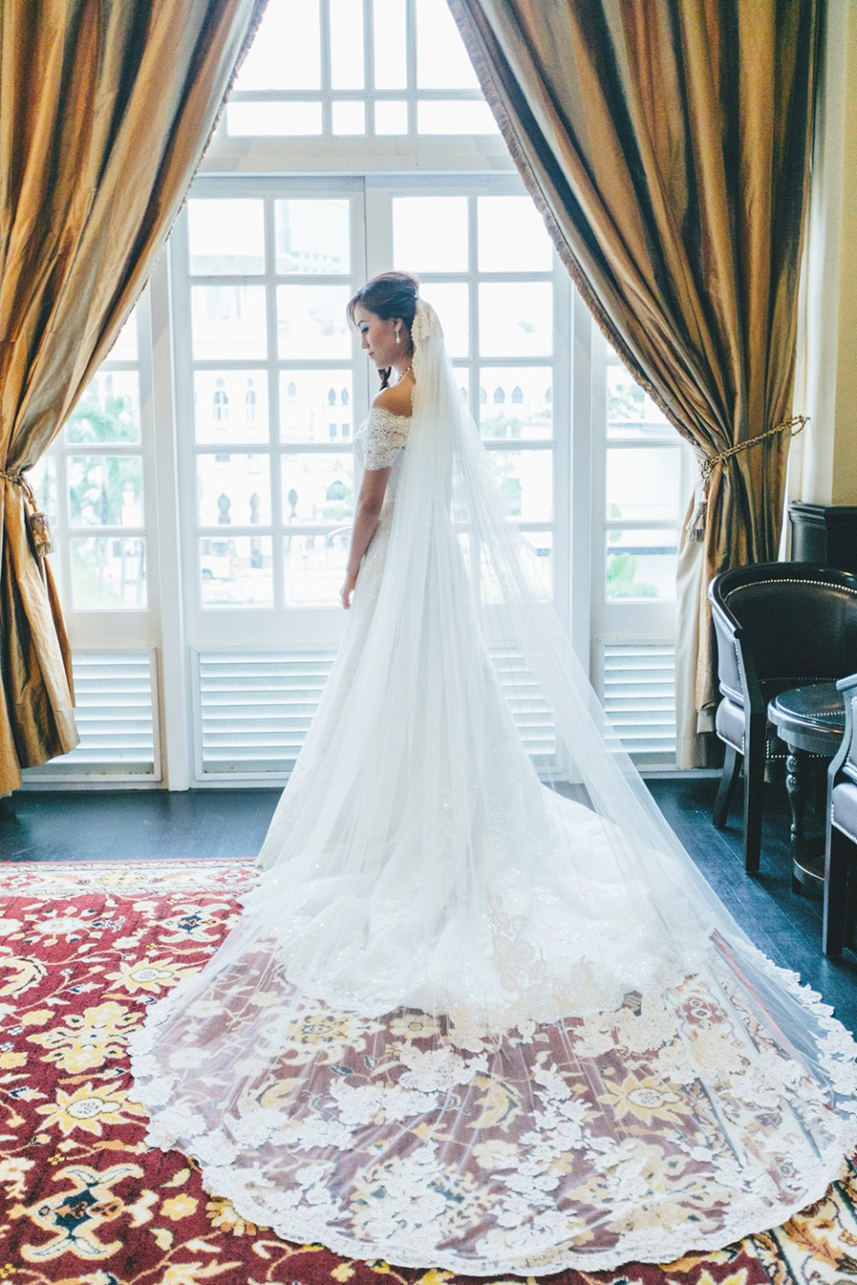Pronovias bridal gown. Photo by Adam Ong Photography. www.theweddingnotebook.com