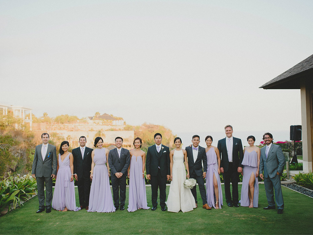 Bridesmaids in lilac. Photo by Terralogical. www.theweddingnotebook.com