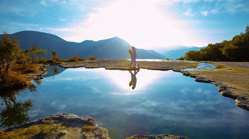 DIY Wedding Photoshoot, Bai Shui Tai, Shangri-La, Yunnan, China. www.theweddingnotebook.com