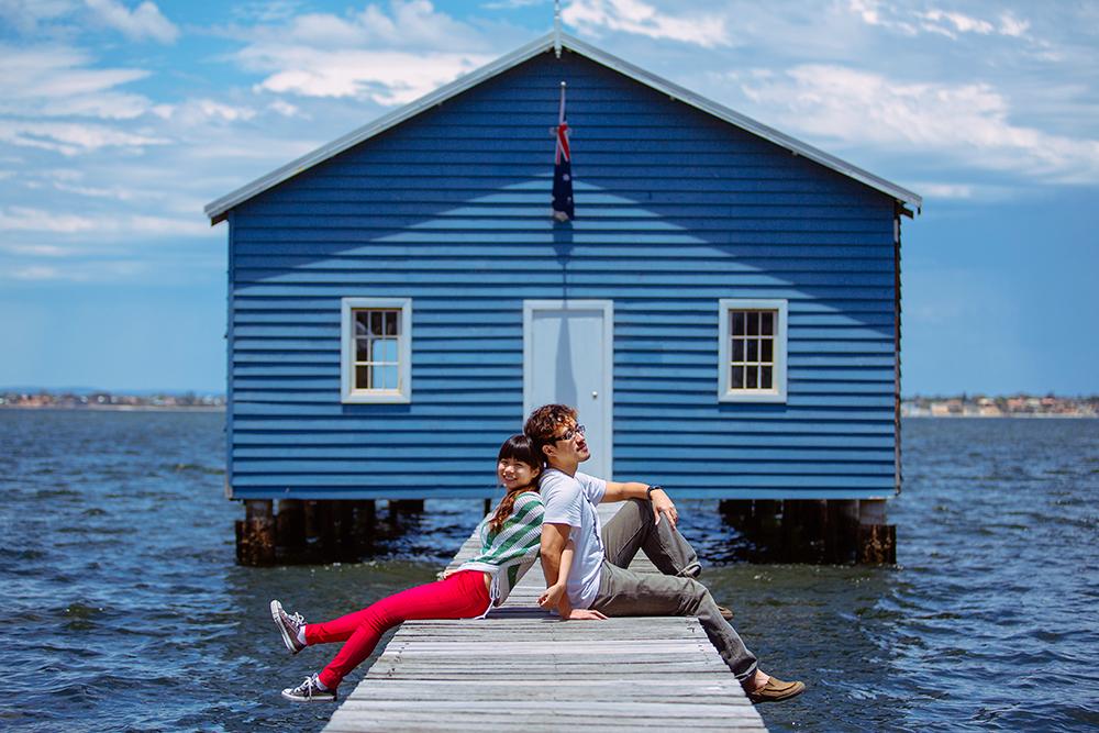 DIY Wedding Photoshoot, Blue Boat House, Perth, Australia. www.theweddingnotebook.com