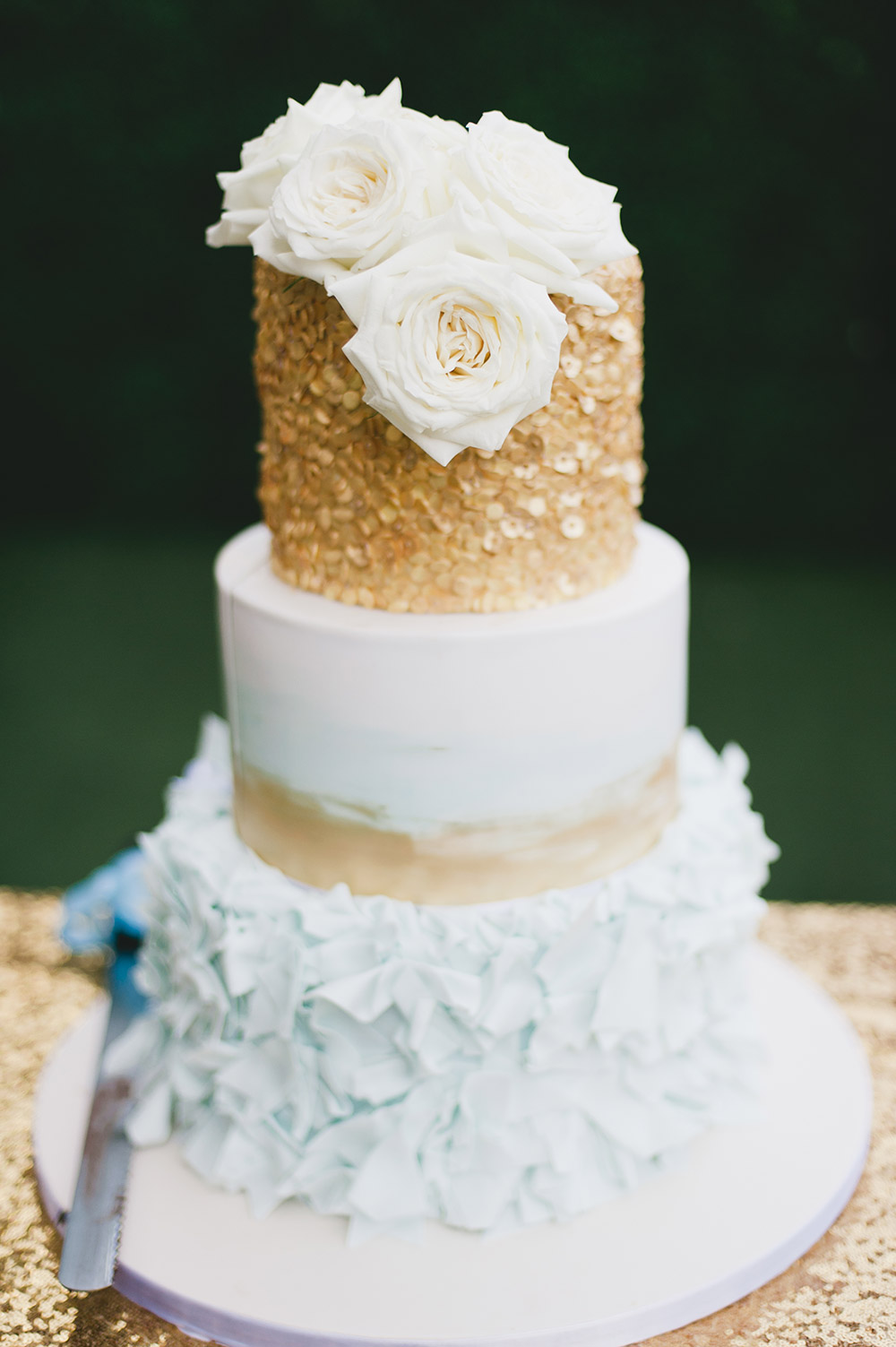 Cake by Miss Shortcakes. Photo by Inlight Photos. www.theweddingnotebook.com