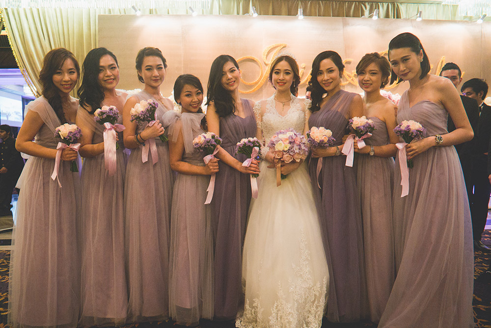 Bridesmaids in purple. Jon Low Photography. www.theweddingnotebook.com