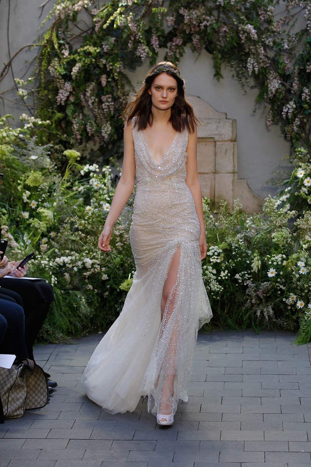 Diamond - Monique Lhuillier Spring 2017 Bridal Collection. www.theweddingnotebook.com