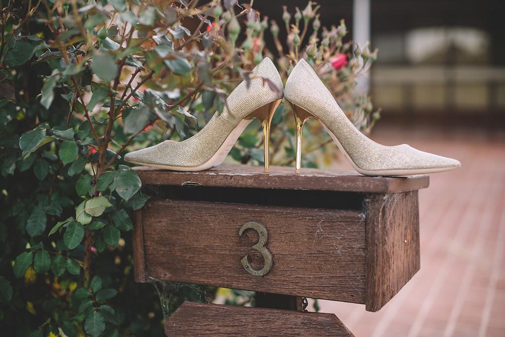 Jimmy Choo bridal shoes. Dennis Yap Photography. www.theweddingnotebook.com