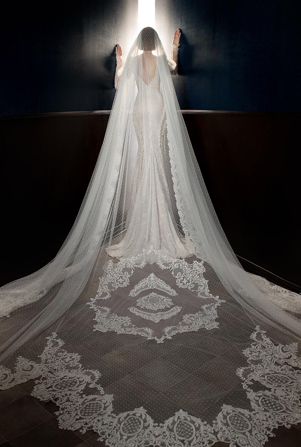 Esther Veil - Galia Lahav Spring 2018 Bridal Collection. www.theweddingnotebook.com