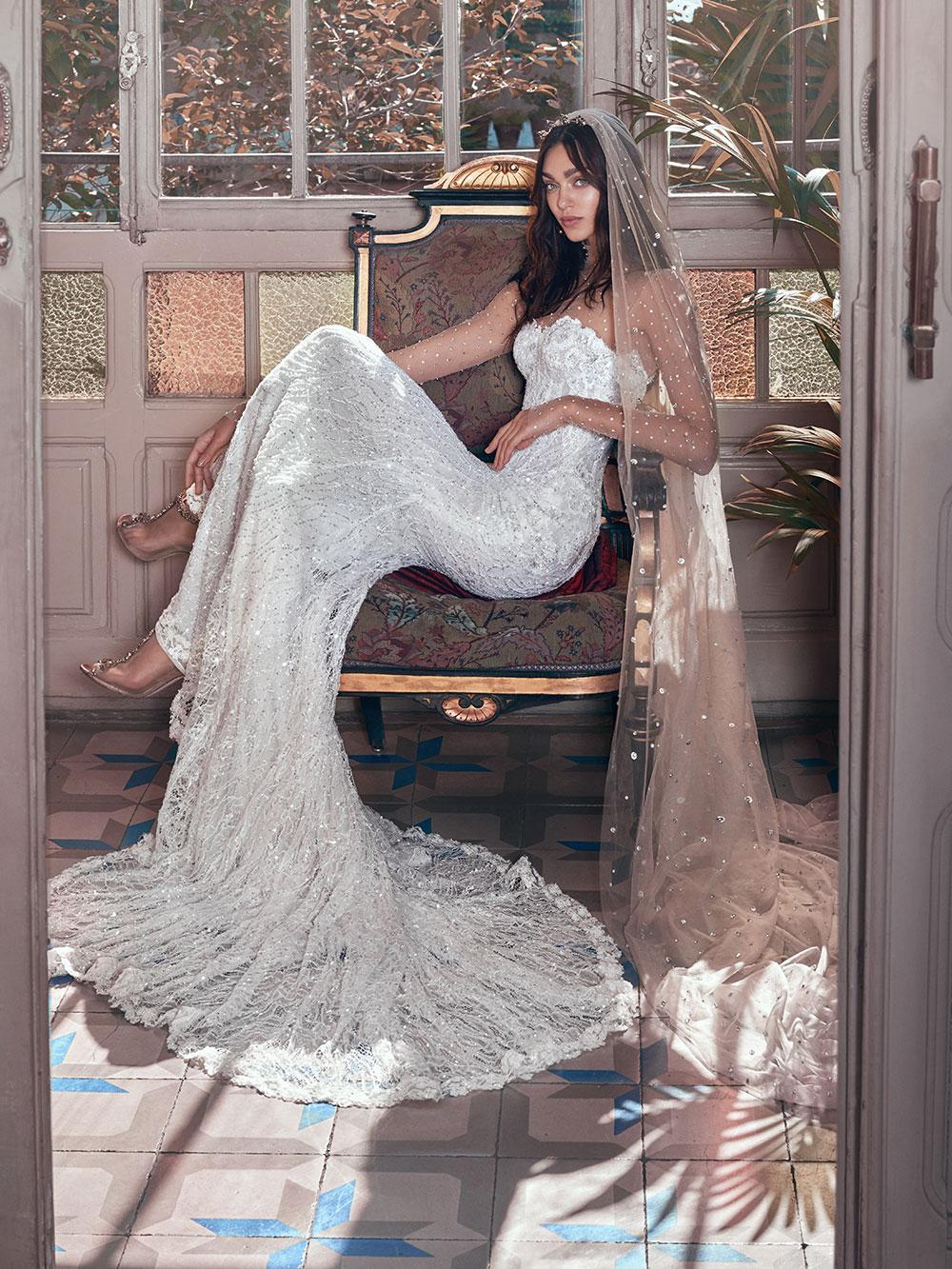 Inez and Stardust veil - Galia Lahav Spring 2018 Collection. www.theweddingnotebook.com