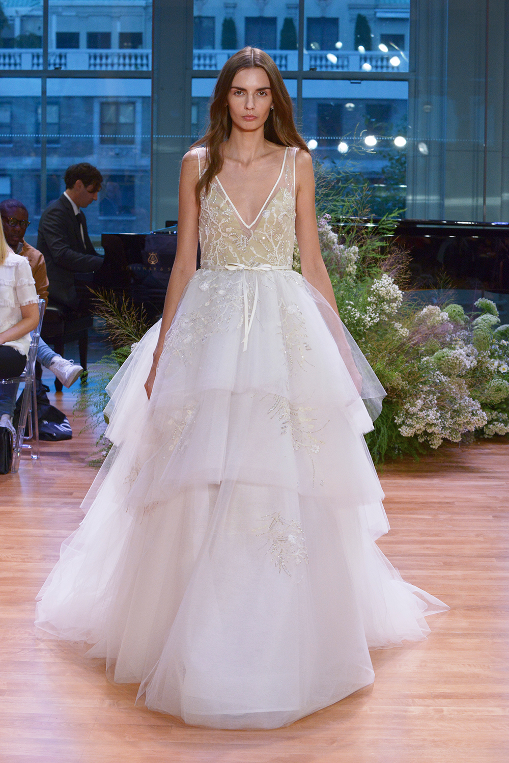 Carnegie - Monique Lhuillier Fall 2017 Bridal Collection. www.theweddingnotebook.com
