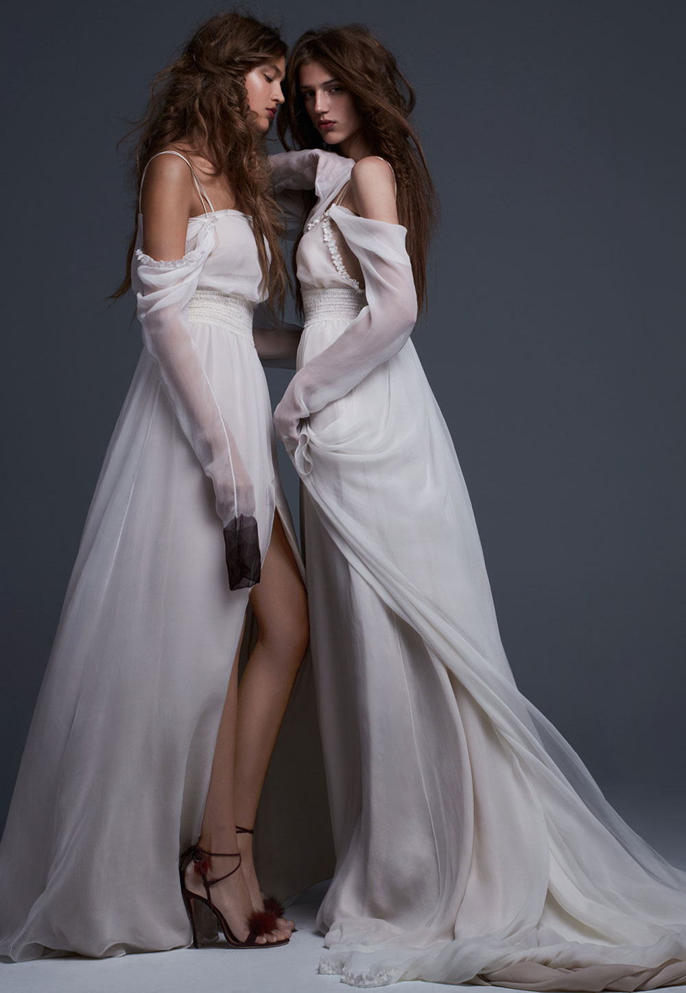 Simona and Serafina - Vera Wang Fall 2017 Bridal Collection. www.theweddingnotebook.com