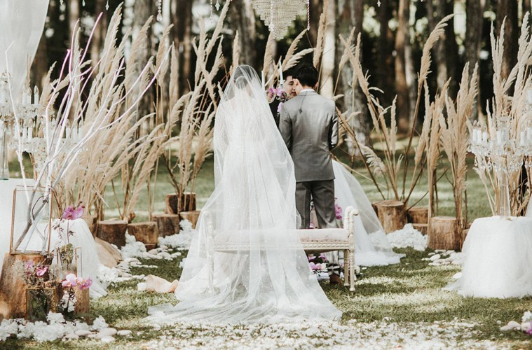 A magical forest wedding at pine forest camp bandung the wedding a magical forest wedding at pine forest camp bandung junglespirit Images