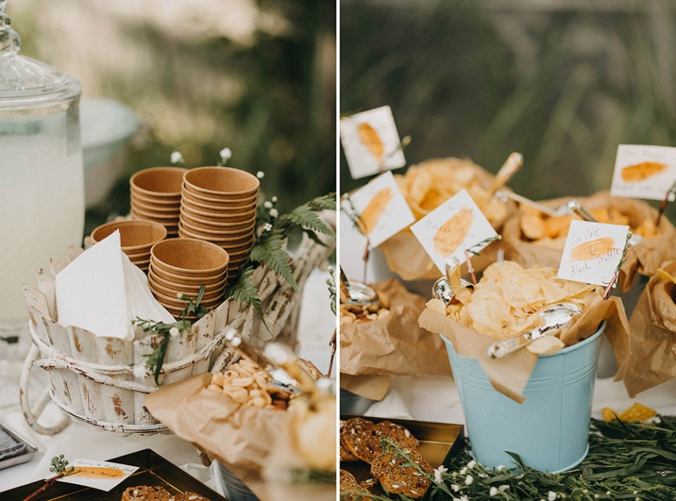 Snacks for wedding. Photo by Peter Herman Photography. www.theweddingnotebook.com