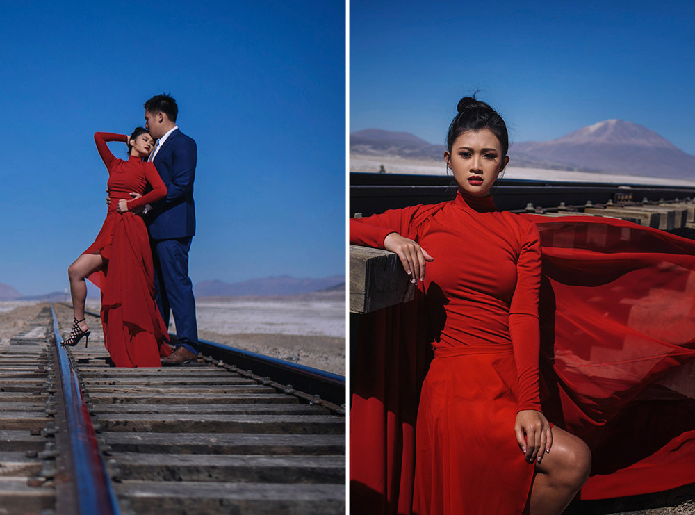 Photography by Metrophoto. Destination bridal portraits in Bolivia. www.theweddingnotebook.com