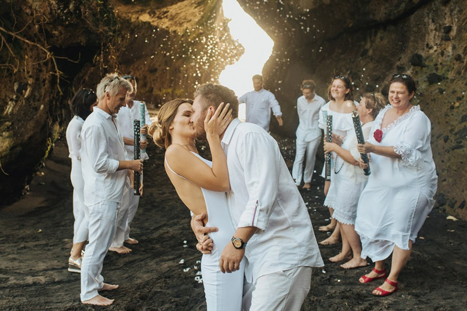 Wedding in a cave in Bali. Photo by Terralogical. www.theweddingnotebook.com