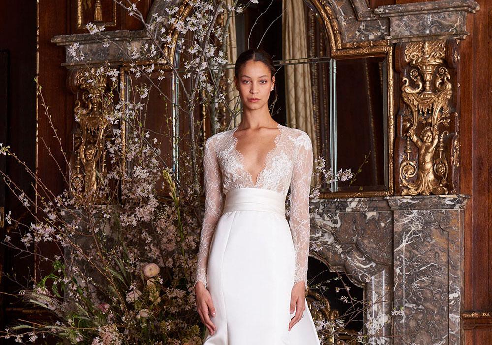 –Monique Lhuillier Spring 2019 Bridal Collection. www.theweddingnotebook.com