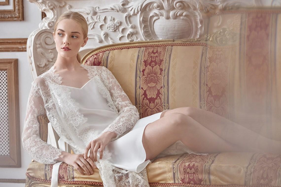 Sareh Nouri Luxury Lace Bridal Robes. www.theweddingnotebook.com