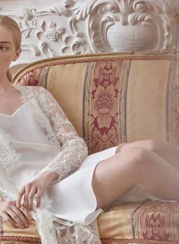 Sareh Nouri Luxury Lace Bridal Robes. www.theweddingnotebook.com
