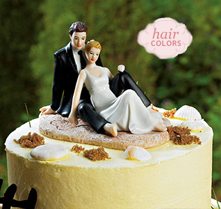 Wedding Cake Toppers   Wedding Cake Tops Beach Lounging Bride   Groom Cake Topper
