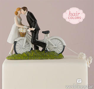Wedding Cake Toppers   Wedding Cake Tops Bicycle Kiss Bride   Groom Cake Topper