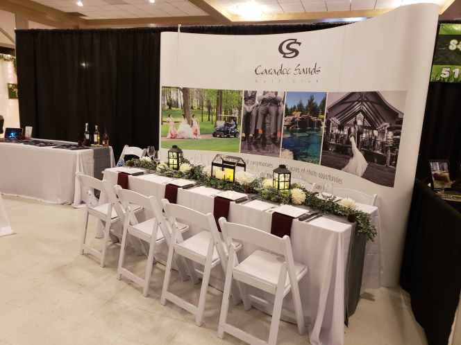 caradoc sands wedding table decor sarnia wedding expo