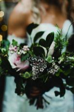 tropical wedding flowers at cambridge butterfly