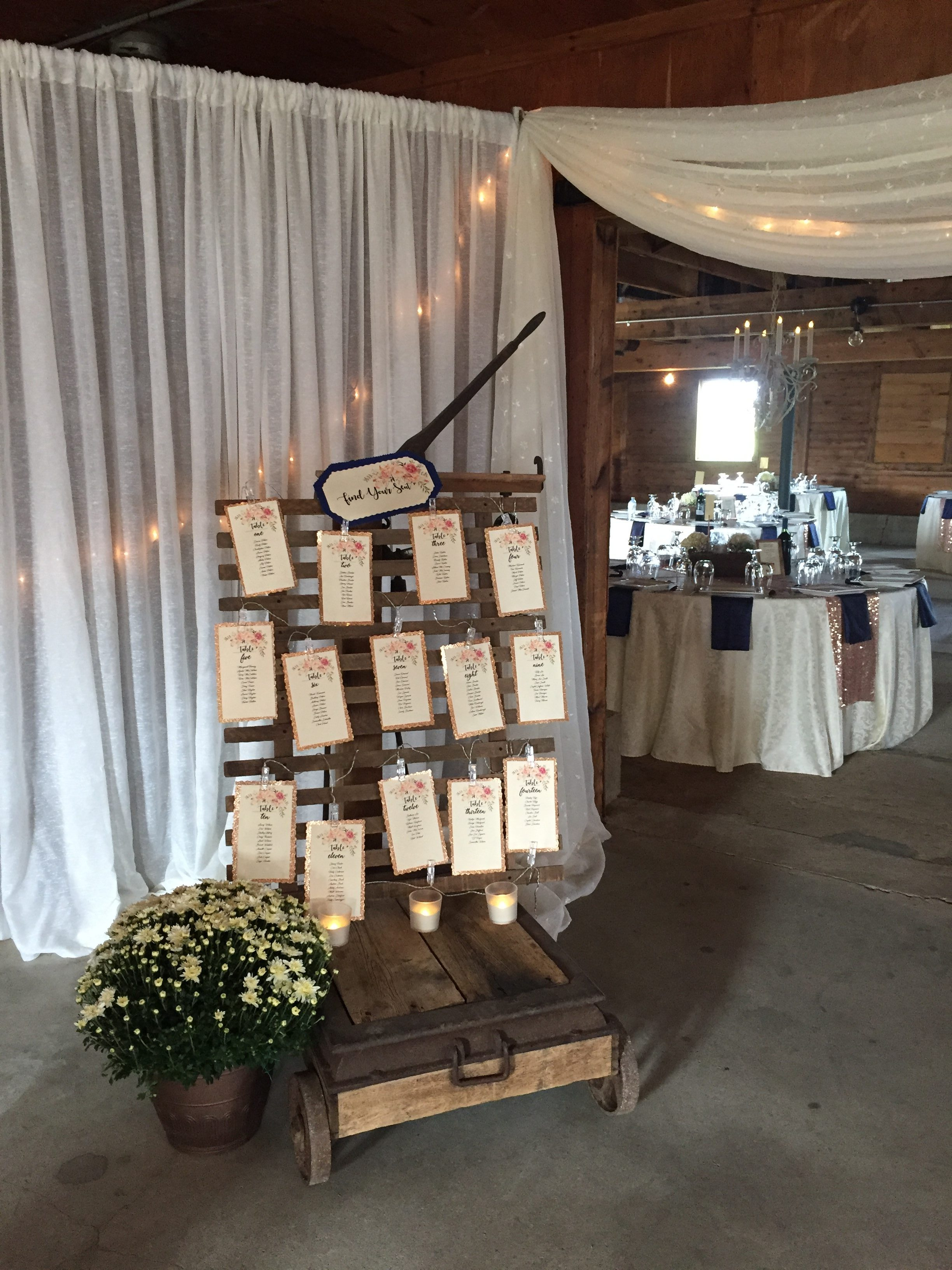 Now & Always wedding guest seating chart
