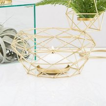 Modern Gold Geometric Metal Table Centerpiece