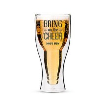 Personalized Double Walled Beer Glass