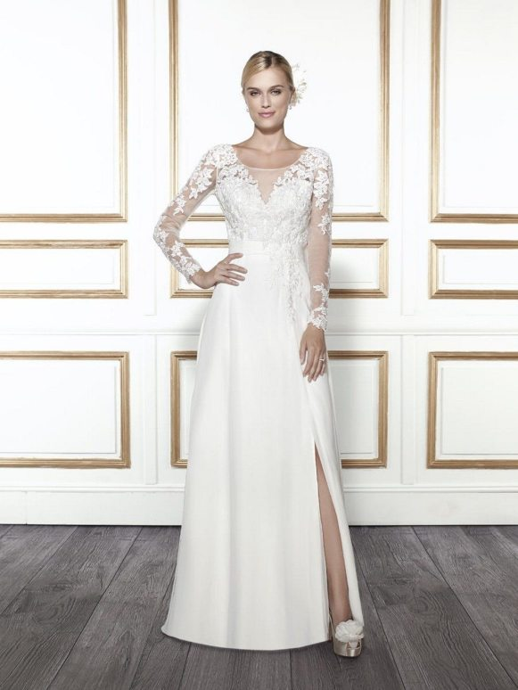 STYLE: SLEEVES Moonlight Bridal #T678 BUDGET: LOWER $795