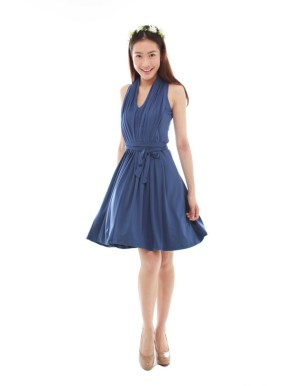 thebmdshop bridesmaid Marilyn Classic navy blue 1