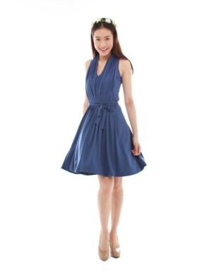 thebmdshop bridesmaid Marilyn Classic navy blue 1