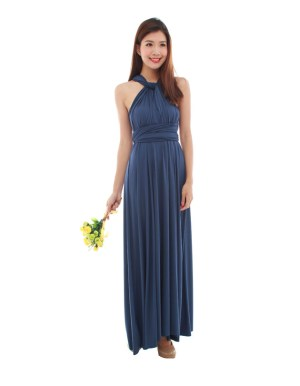 thebmdshop bridesmaid cherie maxi navy blue 4