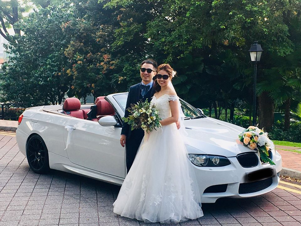 Wedding Carriages Wedding Car Rental Singapore BMW3 Convertible