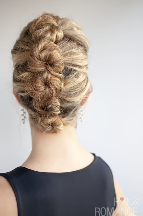 Wedding Hairstyles - French Roll Twist and Pin