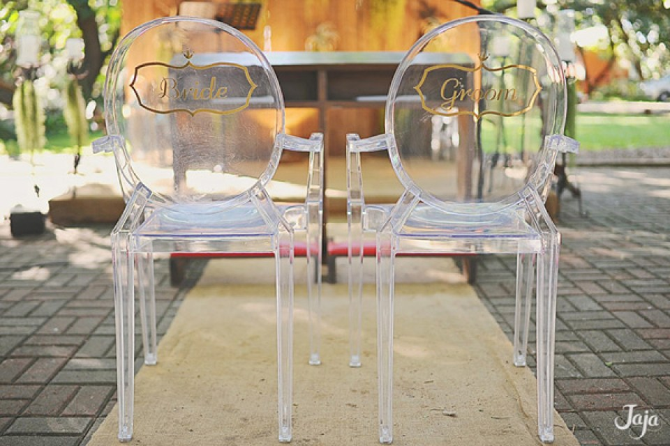 rent wedding chairs - Olive Tree Ghost Chairs - Bride and Breakfast
