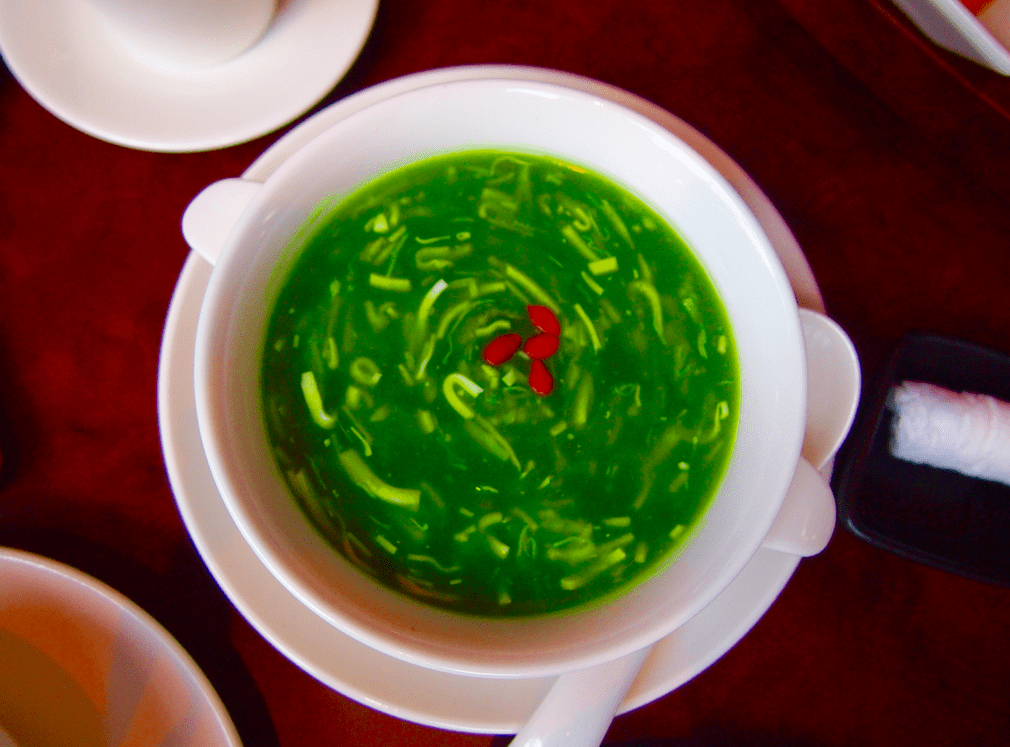 Crab Meat Spinach Soup - Signatures Lunch Set VLV Restaurant