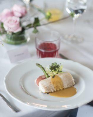 Black Cod with Saffron Sauce and Seasonal Vegetables