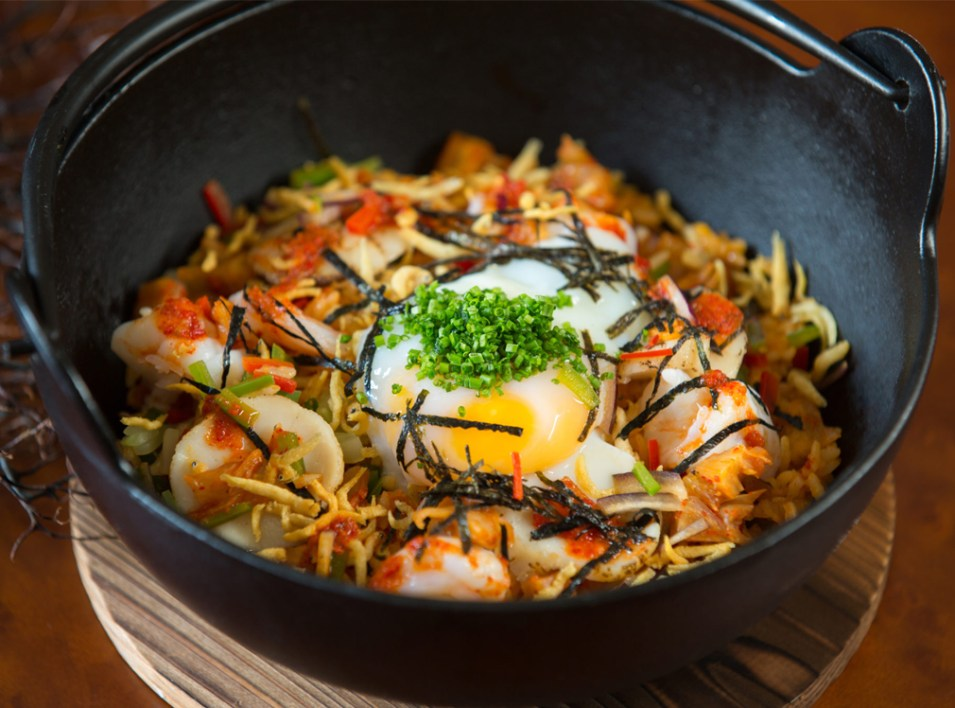 Kimchi Seafood Fried Rice Signatures Lunch Set - VLV Restaurant