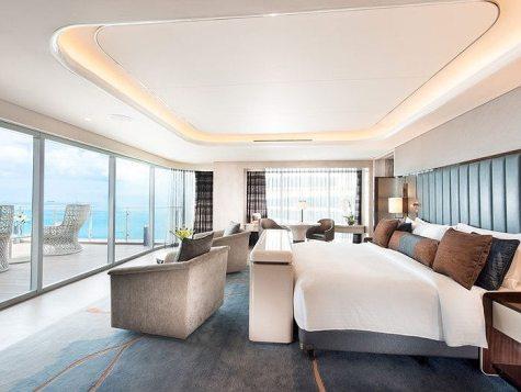 Conrad Hotel Presidential Suite Master Bedroom