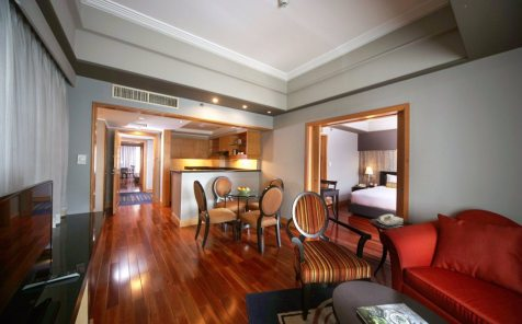The Bellevue Manila Main Wing Premier Suite Living Area