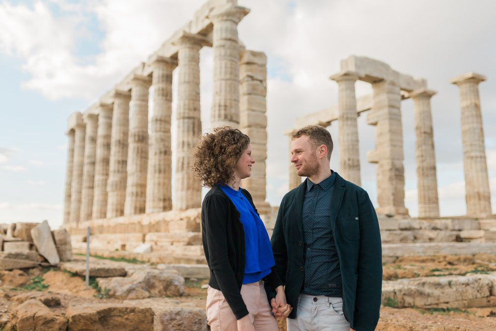 African-american Couples Having Fun On Streets Of Athens
