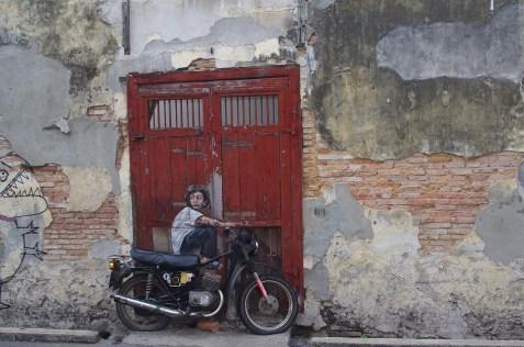 Malaysia Wall Asia Door Penang Street-art