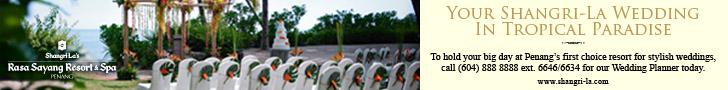 Shangri-La Rasa Sayang Resort & Spa Wedding Banner