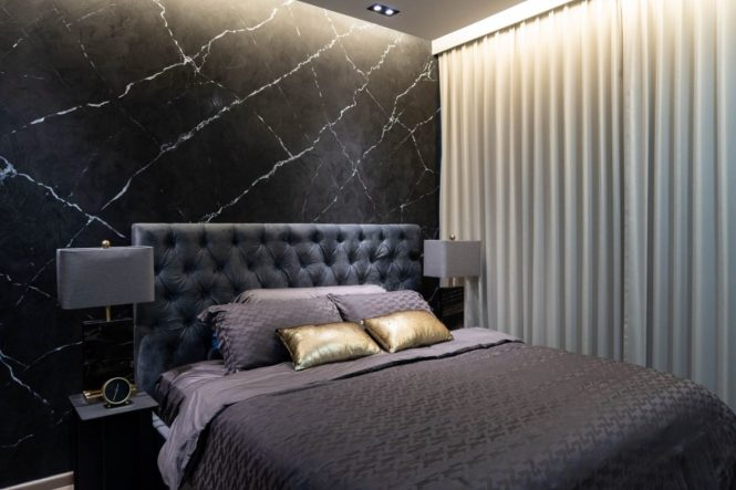 master bedroom singapore black marble wall nippon paint