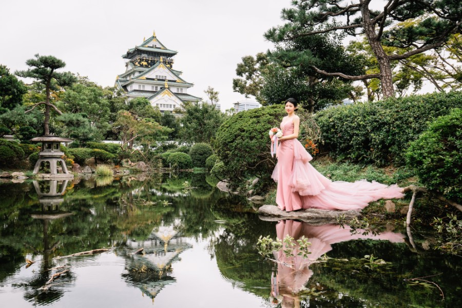 japan photoshoot location osaka castle