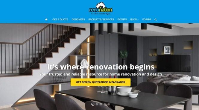 home renovation website singapore renonation