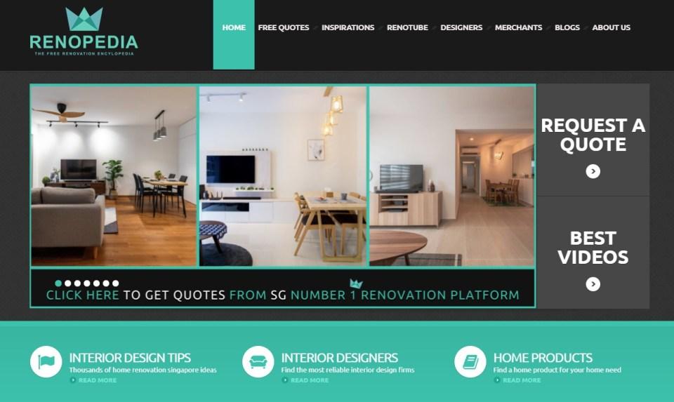 home renovation websites singapore Renopedia