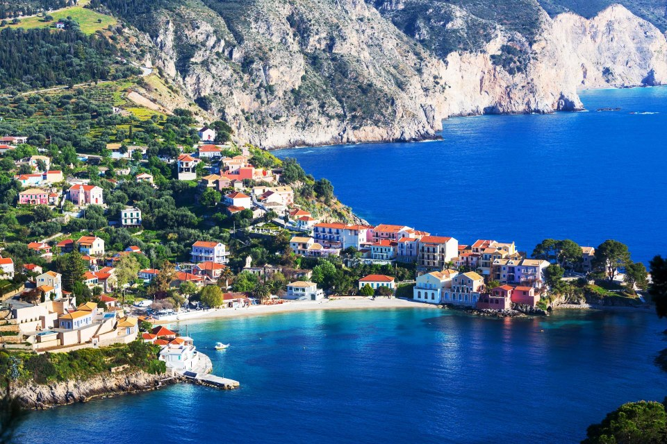 Kefalonia coastal greece
