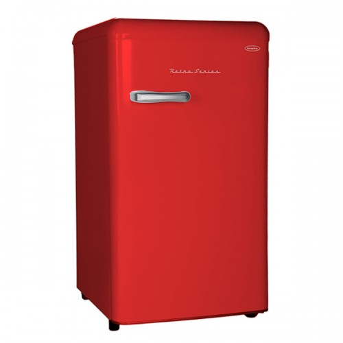 EuropAce 396 Retro Fridge 85 Litre Red