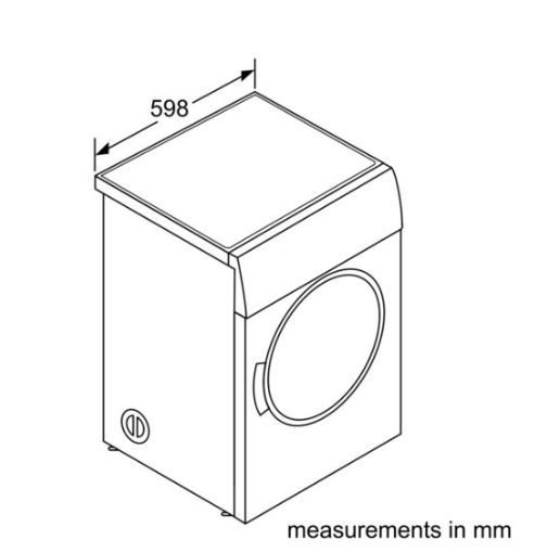 Bosch WTA74201SG 7 Kg Vented Tumble measurements