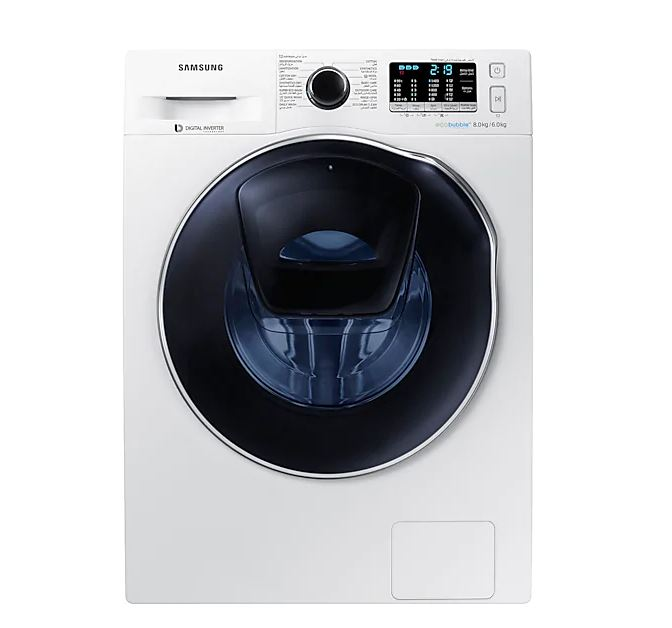 Samsung WD80K6410OW AddWash 8/6kg EcoBubble best Front Load Washer Dryers Singapore