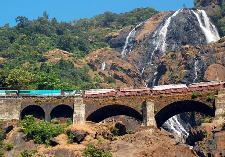 india honeymoon Dudhsagar Waterfall Day Tour from Goa